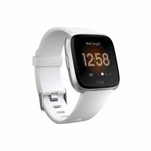 Fitbit Versa Lite Watch - White with Silver Aluminum