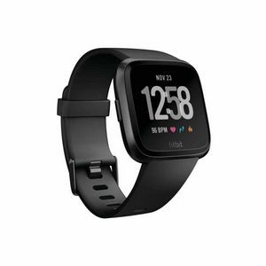 Fitbit Versa Watch - Black Aluminum Case with Black Band