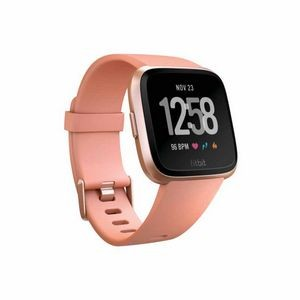 Fitbit Versa Watch - Rose Gold Aluminum Case with Peach Band