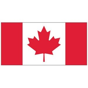 "Canada Polyester Flag 54""x27"""