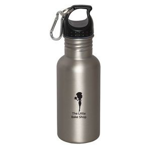 WIDE MOUTH 500 ml (17 oz.) STAINLESS STEEL WATER BOTTLE
