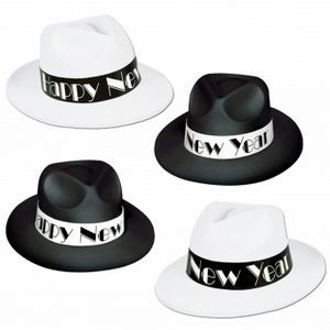 Chicago Swing Fedora Hats - Black & White