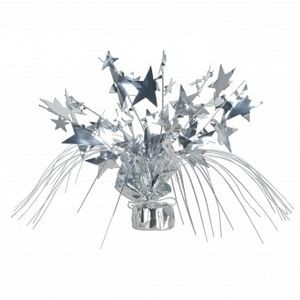 "18"" Star Gleam'n Spray Centerpieces - Silver"