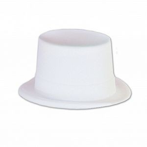 White Velour Topper Hat