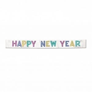 Metallic Happy New Year Banners - Multi-color