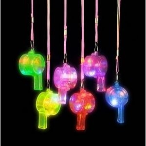 Light-Up Fashion Whistle Necklaces