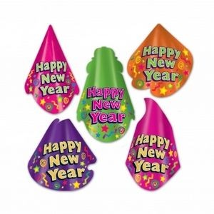 Happy New Year Hat (Assorted)