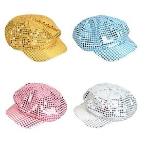 Sequin Newsboy Hat