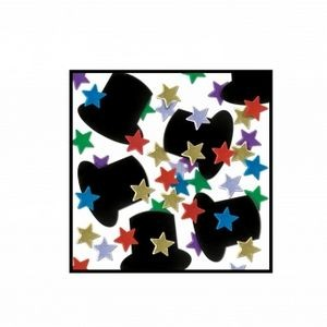 Top Hats & Mini Stars Table Confetti - Multi-color