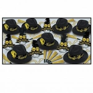 Casino Gold Party Kit for 25 People