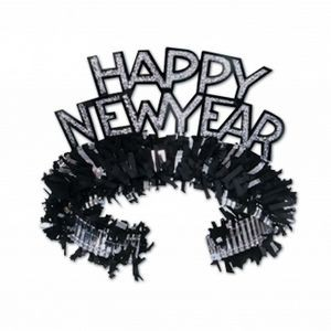 New Year Regal Tiaras (Black/Silver)