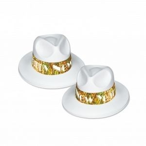 LA Swing Gold Fedora Hats