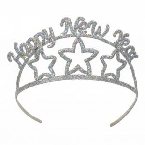 Glittered Happy New Year Tiaras